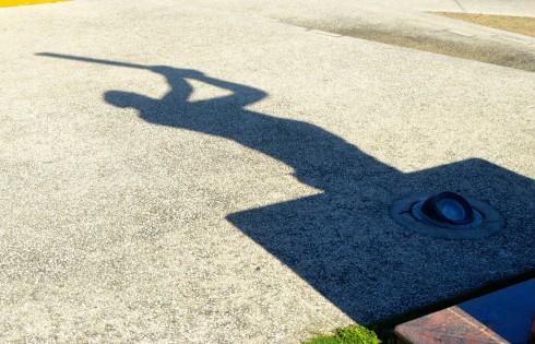 Shadow of Sir Garfield Sobers Statue