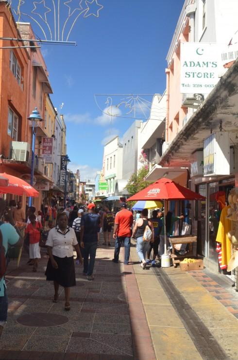 Typical Bridgetown Street