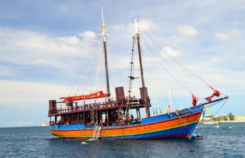 The Jolly Roger heading for Carlisle Bay Barbados