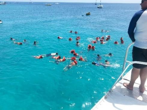 Mass snorkellers