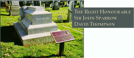 Grave of Canadian P.M. David Thompson