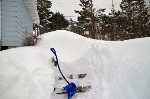 After shovelling for three hours I have this left