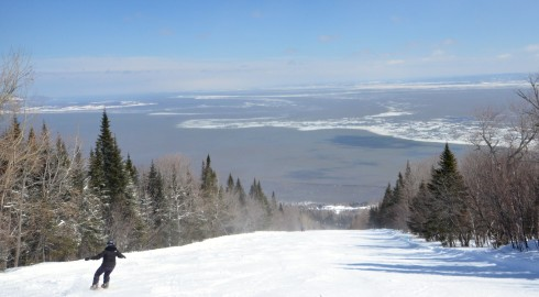 Skiing into the St. Lawrence
