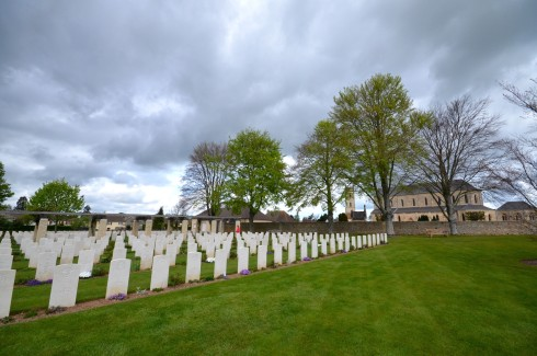 Cemetery and Church at Ranville War Cemetery