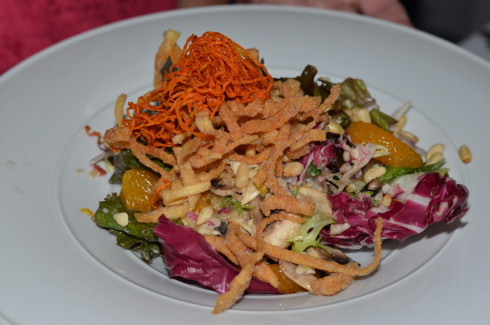 Best Restaurants in Barbados - Crispy Oriental Salad, The Tides