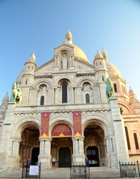 Entrance to Sacre Couer, Montmartre