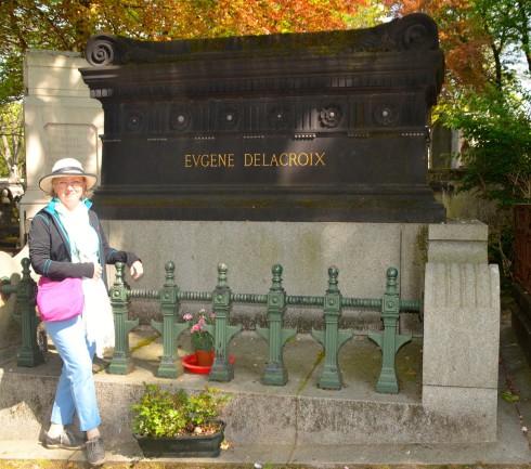 Eugene Delacroix in Pere Lachaise