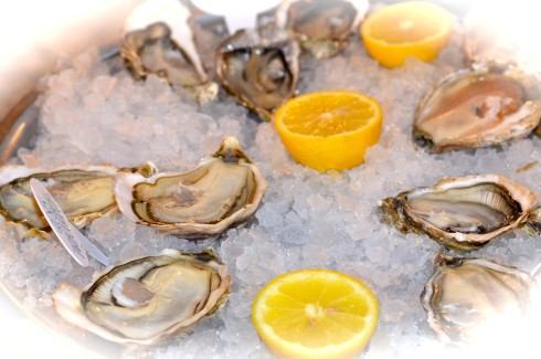 Four types of oysters, La Mascotte