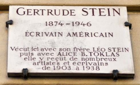Gertrude Stein lived here