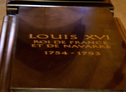 Louis XVI in St. Denis Crypt