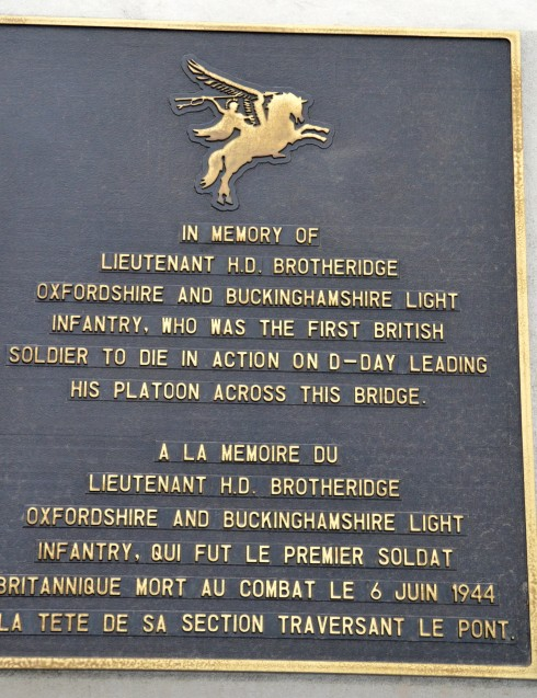 Lt. Brotheridge at Pegasus Bridge