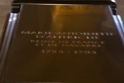Marie Antoinette in St. Denis Crypt