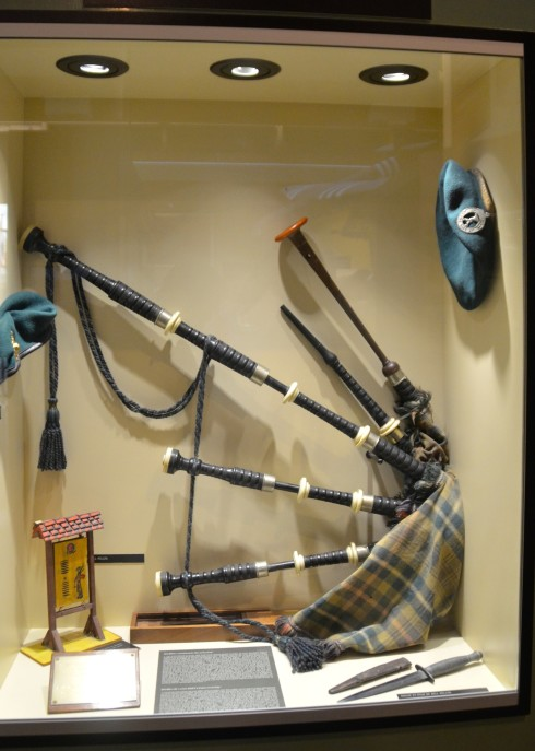 Bill Millin's Bagpipes in Pegasus Bridge Museum