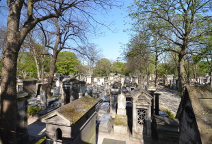 View of Montmartre Cemetery