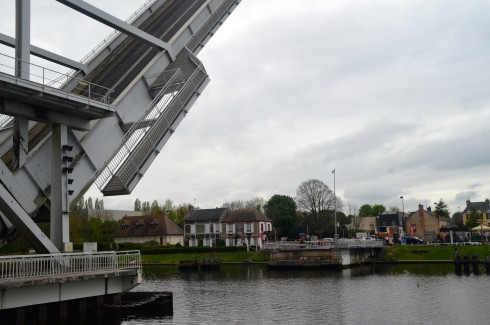 Modern Pegasus Bridge Raised