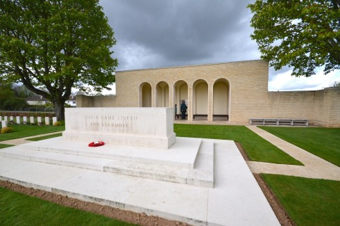 Ranville Stone of Remembrance at Ranville War Cemetery