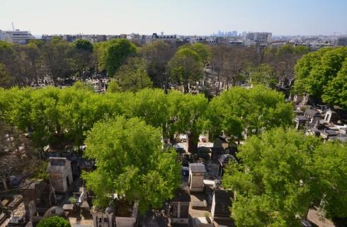 Montmartre Cemetery from 34 Rue de Jesph du Maitre