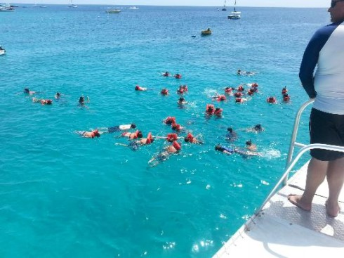 Snorkelilng from the Jolly Roger, Barbados
