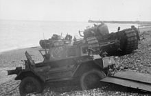 Disable tank at Dieppe