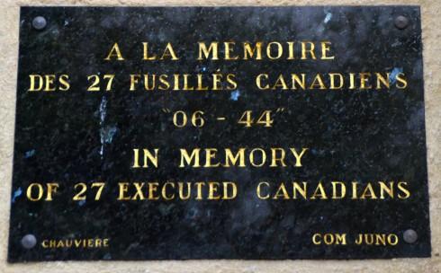 Abbeye d'Ardenne Plaque