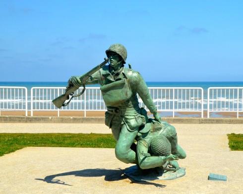 Photo of the National Guard Monument, Omaha Beach