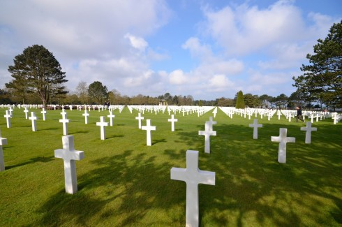 Photo of the American Cemetery Omaha Beach