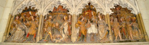 Amiens cathedral polychrome reliefs