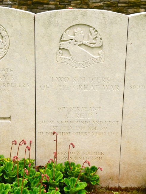 Sgt. Charles Reid buried at Beaumont Hamel