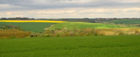 The Battle of the Somme countryside