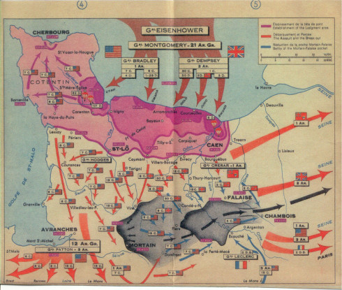 D-Day map