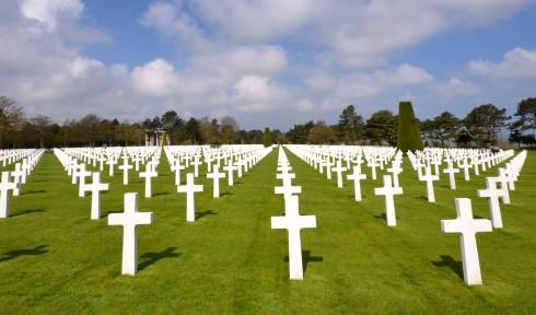 Endless Graves at Omaha Beach Cemetery