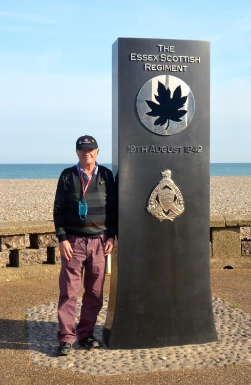 Essex Scottish Regiment memorial, Canadians at Dieppe