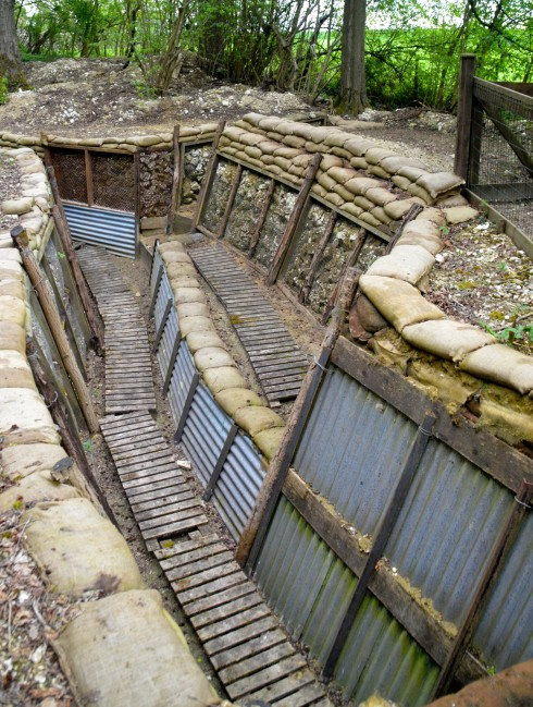Excavated Trench from the Battle of the Somme