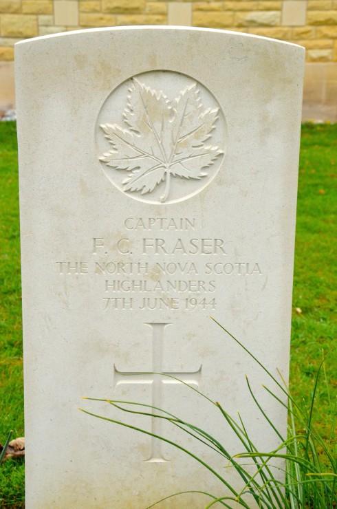 F.C.Fraser in Beny-sur-Mer Cemetery