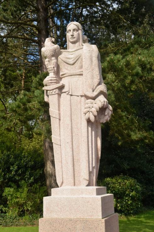 Lady Columbia at Omaha Beach Cemetery