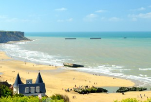 View of Arromanches Beach