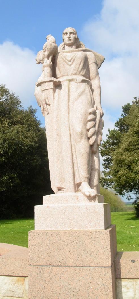 Marianne at Omaha Beach Cemetery