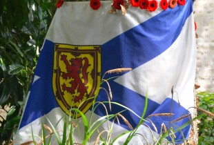 Nova Scotia Flag at Abbeye d'Ardenne