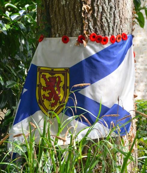 Nova Scotia Flag at Abbeye d'Ardenne