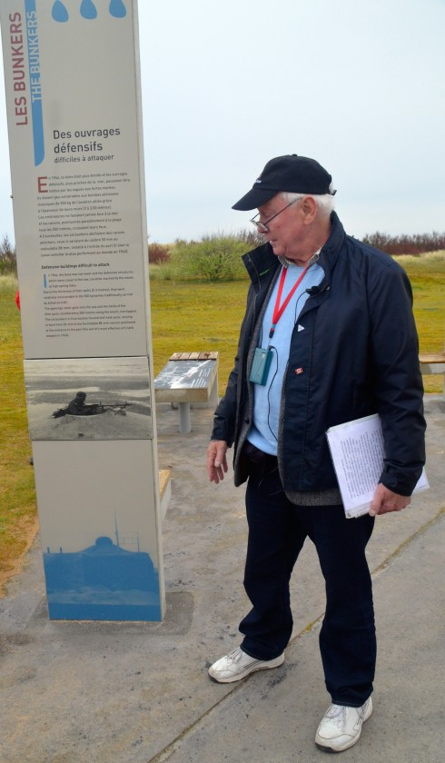 Phil Craig explaining the German Bunker System at Juno Beach