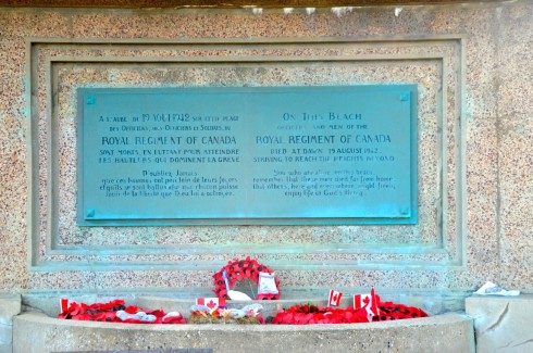 The Dieppe Raid - Royal Regiment Memorial at Puy
