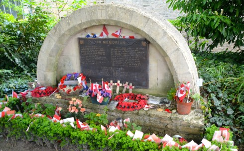 Shrine to Canadians at Abbeye d'Ardenne