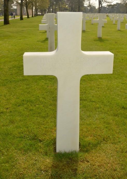 Thomas E. Reid in Omaha Beach Cemetery