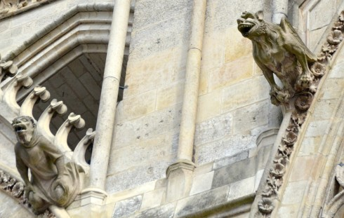 Two Gargoyles at Amiens Cathedral