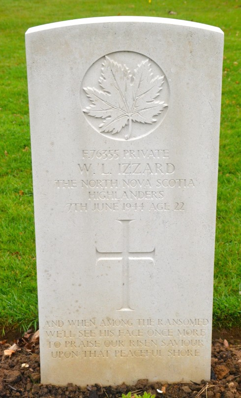 William Lyall Izzard in Beny-sur-Mer Cemetery