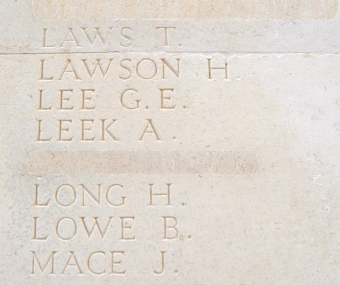 A name removed from the Thiepval Monument