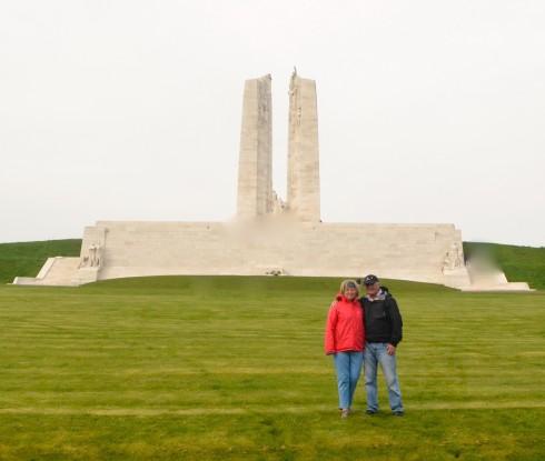 At the Vimy Ridge Memorial