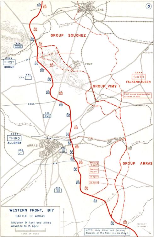 Plan of Vimy Ridge