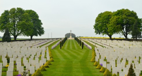 A View of Cabaret-Rouge Cemetery