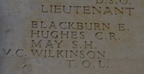 T.O.L. Wilkinson V.C. at Thiepval Monument